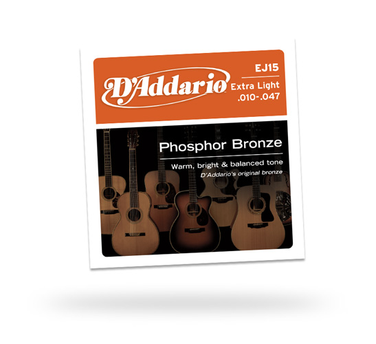 D'Addario Extra Light Phosphor Bronze 10-47