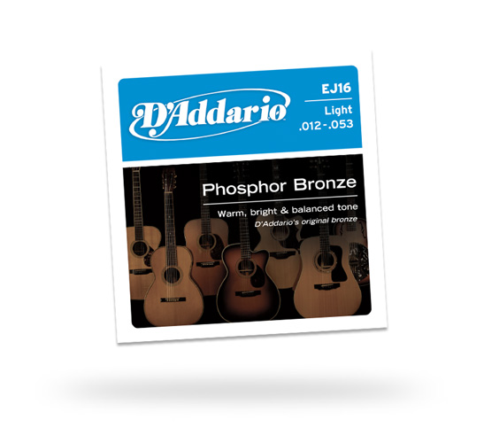 D'Addario Light Phosphor Bronze 12-53