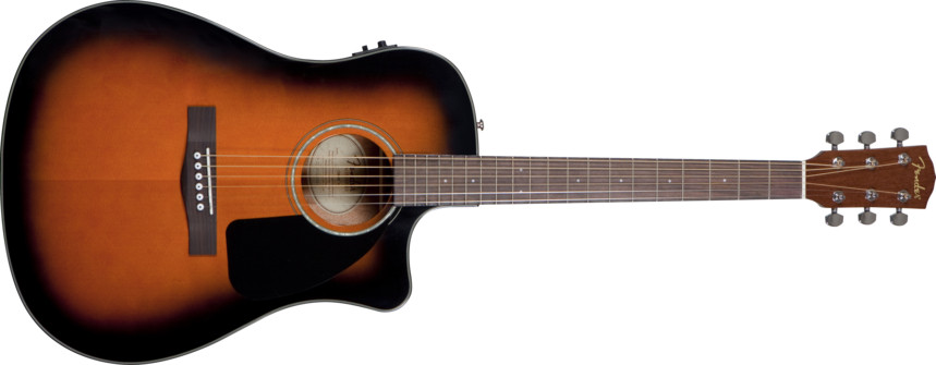 Fender® CD-60CE Acoustic Sunburst