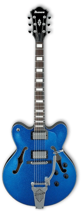 Ibanez AFD75T Artcore Electric Guitar Blue Sparkle