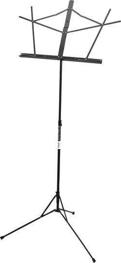 On-Stage Stands Portable Black Music Stand with Bag