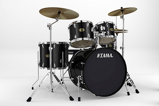 Tama IS52KC Imperial Star 5-Piece Kit w/Hardware Black